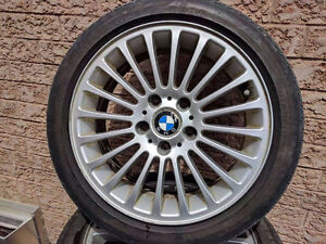 BMW E46 factory rims with all seasons (Set of 5)