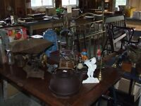Huge yard sale collectibles antiques and more