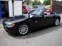 BMW Z4 2.2i SE ROADSTER CONVERTIBLE ** 2005 55** DREAM RED LEATHER ** CABRIOLET