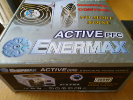 Enermax Retro PC Power Supply with manual fan speed adjustment