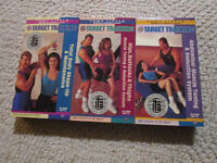 3 Tony Little Target training VHS Tapes as seen on TV.