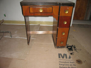 Old sewing machine, Desk or telephone table in Mahogany