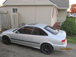 2000 Honda Civic Silver Coupe Certified / E-Tested