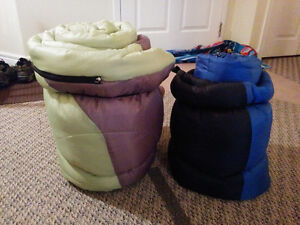 DOUBLE AND SINGLE PERSON SLEEPING BAGS