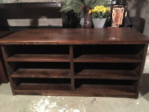 Solid Wood - TV Stand with shelves