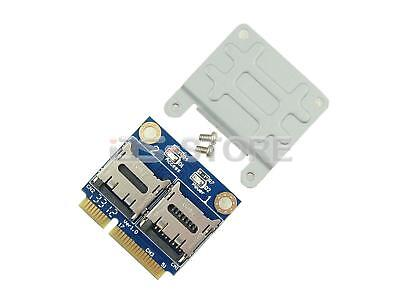 Dual TF Micro SD SDHC SDXC SSD HDD to Half Mini PCI-e Memory Card reader adapter Hdd Card Reader