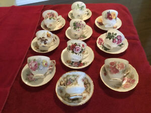 FINE BONE CHINA TEA CUPS and SAUCERS FOR SALE