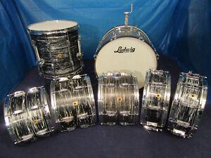 Ludwig Vintage bass drum floor rack tom batterie 1960
