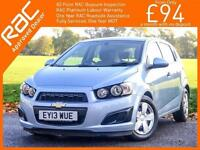 2013 Chevrolet Aveo 1.2 LS 5 Door 5 Speed Air Conditioning Just 1 Lady Owner Onl