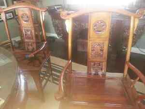 Exotic dining table 4 chairs/Alter Table imported from China Peterborough Peterborough Area image 5