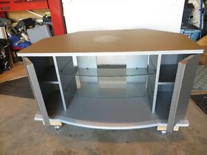 Television entertainment Stand with Wheels
