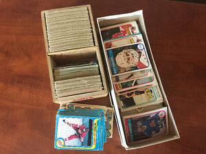 Collection of old hockey cards circa 1980's