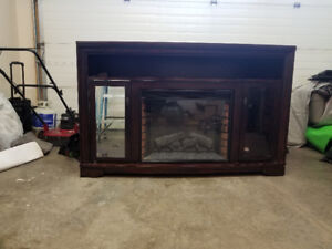 Electric fireplace solid wood