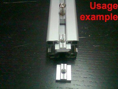 Aluminum T-slot Profile Slide-in T-nuts 8t-40 M6mm 24-set