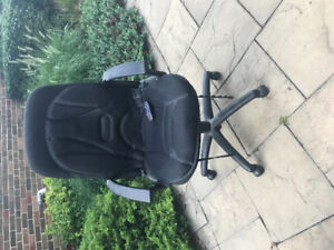 Office chair with massage cushion attachment