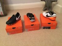 Nike tempo brand new boxed football boots UK3. UK4 and the white pair are UK 5. £10 a pair
