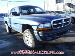 2004 DODGE DAKOTA  QUAD CAB 4WD