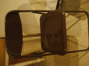 Two plastic fold up Chairs