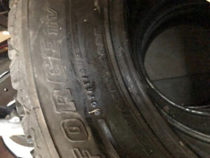 Winterforce tires 35/65R17