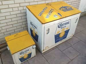 Rare Large & Small Authentic Corona Beer Ice Coolers from Mexico