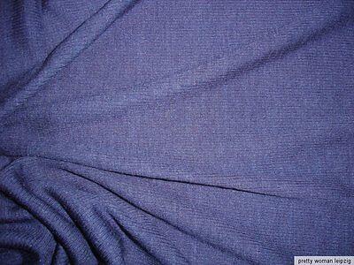 1 Lfm Feinrippstoff 4,47€/m² Trikotstoff Wollmischung blau IE26