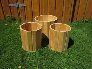 New wooden planters