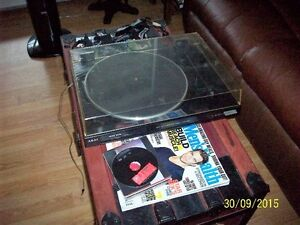 rca 5 disk cd player changer,akai turntable,not working