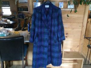 Ladies long mohair coat