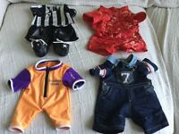 4 sets of Bear Factory clothes