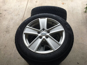 Set of 4 tires on alloy rims - great shape, VW rims