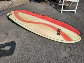 6.6 Fish Surfboard with bag,good leash,and fins in good order