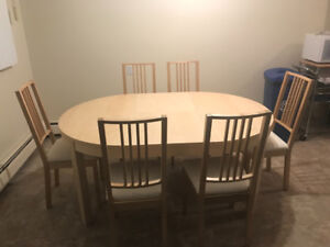 KitchenTable and 6 Chairs