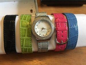 Ladies watch- 5 interchangeable straps