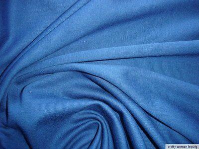 1 Laufmeter Bündchenstoff 3,47€/m² Baumwolle Lycra blau