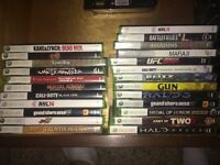 xbox 360 (newest version) for sale lots of games and extras