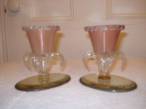 Antique Victorian Candle Holders