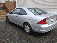 Low Mileage, Great condition: 2001 Honda Civic Coupe (2 door)
