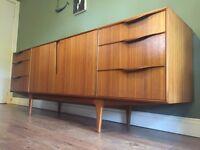 Vintage retro mid century long sideboard
