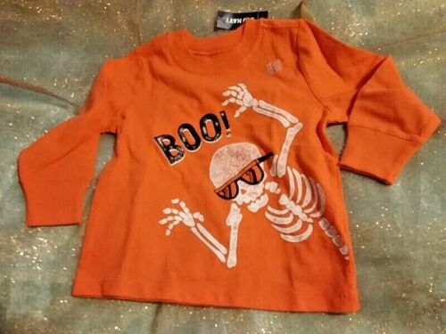 OLD NAVY TODDLER BOYS HALLOWEEN TOP-ORANGE WITH COOL SKELETON SIZE 2T NWT