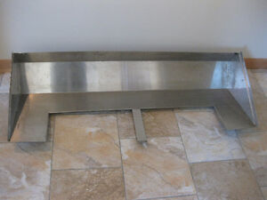 UNUSED COMMERCIAL STAINLESS STEEL CANOPY PIECE #1
