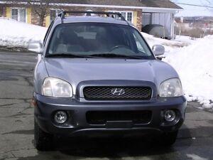 2003 Hyundai Santa Fe gris VUS