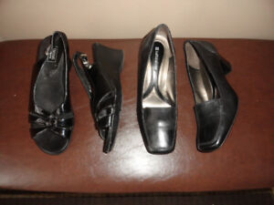 Women's Leather High Heels Shoes & Sandals - Size 7.5