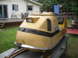 1970 SkiDoo Olympique Restoration Project with Work Stand
