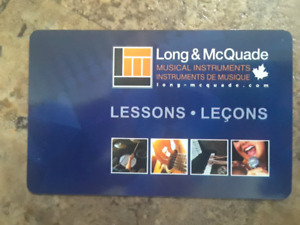 Long and McQuade Gift Card for Music Lessons