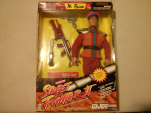 "1993 GI Joe Street Fighter II M. Bison 12"" figure $40"