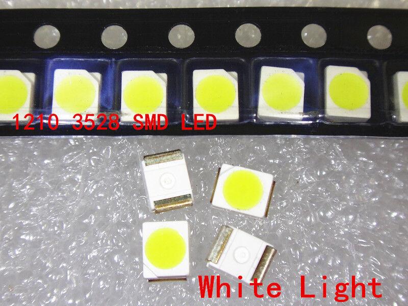 100pcs 3528 White Ultra Bright Light Diode 1210 SMD LED