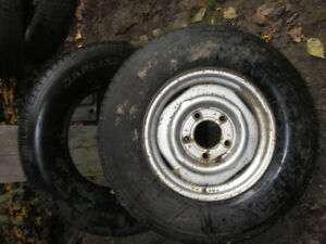 15 inch trailer tires. One with rim. Brand new