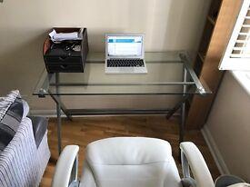 Levv Lanway Glass Computer Desk