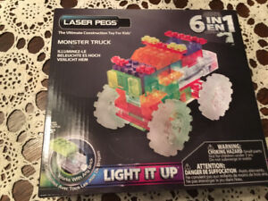 Laser pegs monster truck and executive jet
