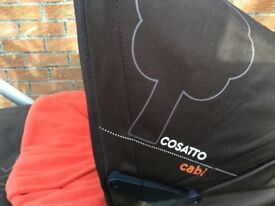 Cosatto Buggy, pram, car seat 3 in 1, good as new.